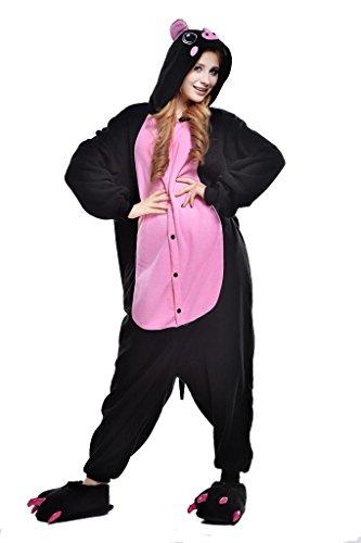 Black Pig Kigurumi Pajamas Cosplay Costume Unisex Animal Hoodies Sleepwear XLarge