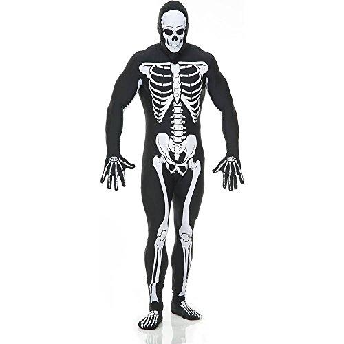Black Skeleton Bodysuit Adult Costume