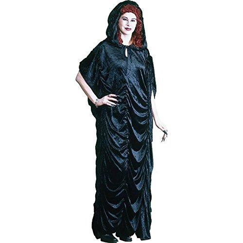 Black Velvet Hooded Robe