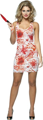 Blood Splatter Halloween Scary Kill Tank Dress Costume Adult Standard