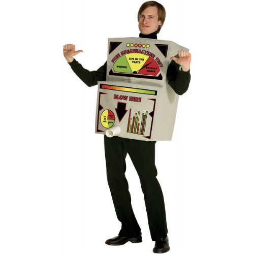 Breathalyzer Costume Costume – One Size – Chest Size 42-48