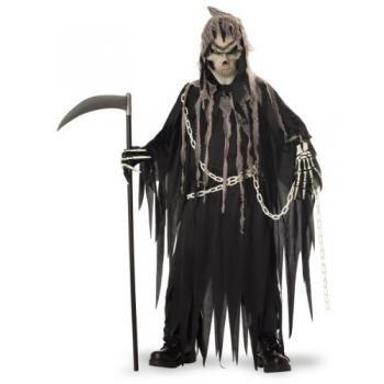 California Costume Collection Men's Mr Grim Costume Grey/Black Large