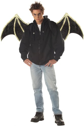 California Costumes Bone Wings,Black/White,One Size Costume Accessory