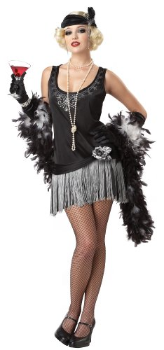 California Costumes Boop Boop A Doo Adult Costume, Black/Silver, Large