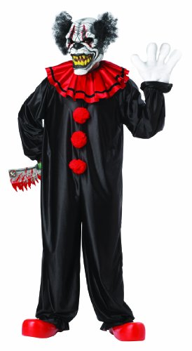 California Costumes Last Laugh The Clown Set, Black/Red, One Size
