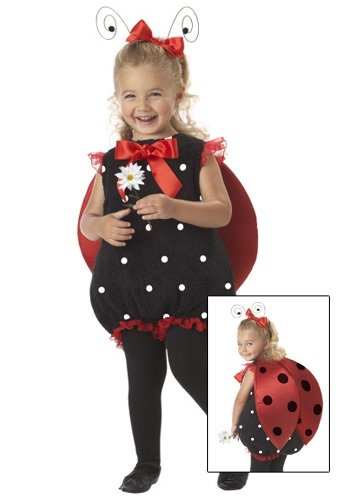 California Costumes Lil' Lady Bug Romper, Red/Black, 18-24 Costume