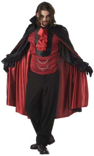 California Costumes Men's Count Blood Thirst Costume, Black/Red,X-Large