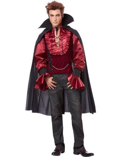 California Costumes Men's Dashing Vampire Adult, Black/Burgundy, Large
