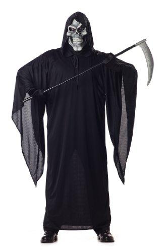 California Costumes Men's Grim Reaper Costume,Black,Large