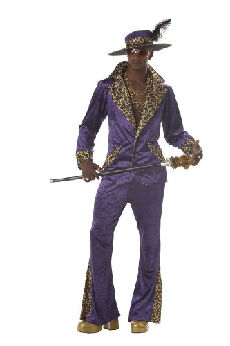 California Costumes Men's Pimp,Purple,Large Costume