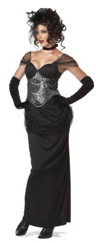 California Costumes Victorian Vampiress, Black/Silver, Large Costume
