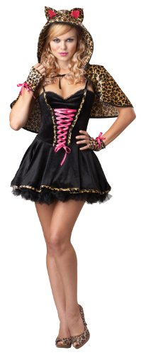 California Costumes Women's Eye Candy – Frisky Kitty Adult, Black/Tan, Large