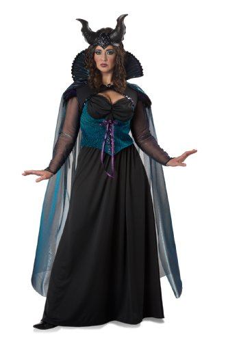California Costumes Women's Plus-Size Storybook Sorceress Plus, Black/Purple, 1X