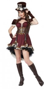 California-Costumes-Womens-Steampunk-Girl-Adult-BurgundyBrown-X-Large-0