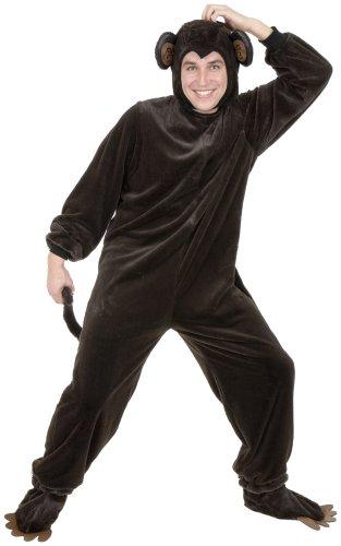 Charades Adult Monkey Costume Set, Brown, X-Large