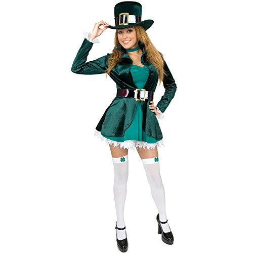 Charades Costumes Women's Sexy Leprechaun With Hat Adult Costume 3X Green