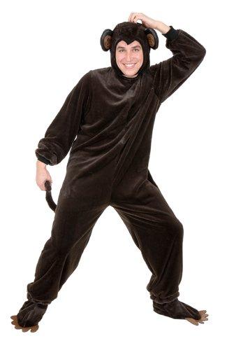 Charades Men's Adult Plus-Size Monkey Costume Set, Brown, XX-Large