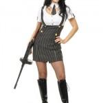 Charades-Womens-Gangsta-Pin-Stripe-Dress-BlackWhite-Medium-0