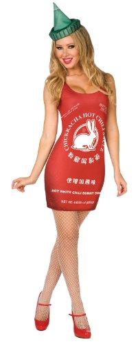 Chinese Hot Sauce Adult Costume Size Medium (10-12)