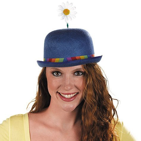 Clown Derby Hat with Daisy