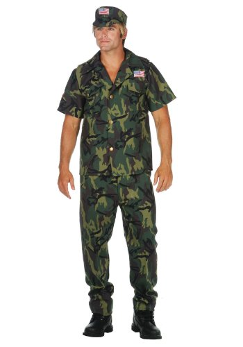 Commando Camouflage Adult Costume Size X-Large (44-48)