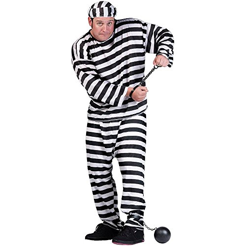 Convict Man Plus Size Costume