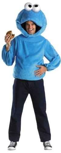 Cookie Monster Adult Costume Size X-Large (42-46) Blue