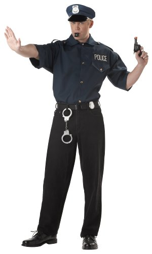 Cop Set Costume (Men's Adult Large 42-44)