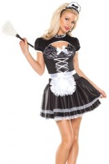 Coquette-Womens-Flirty-French-Maid-BlackWhite-LargeX-Large-0