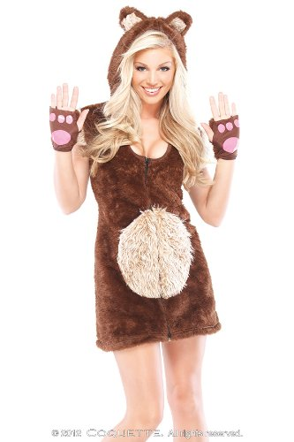 Coquette Women's Teddy Bear Girl Adult Costume Small/Medium Brown