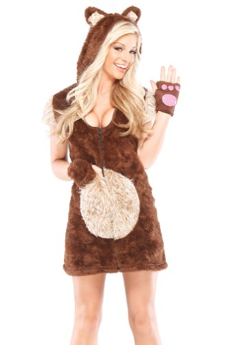 Coquette Women's Teddy Bear Girl, Brown/Tan, Medium/Large