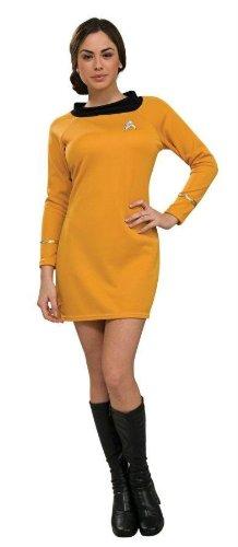 Costumes For All Occasions Ru889059Md Star Trek Classic Gld Dress Md