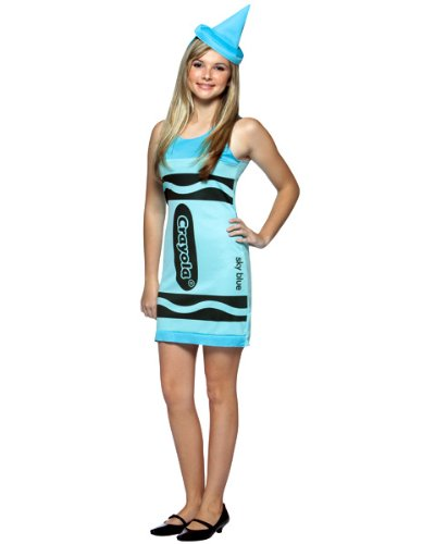 Crayola Sky Blue Tank Dress Costume – Tween