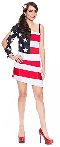 DELICIOUS – Star Spangled Sweetie Adult Costume – Medium/Large