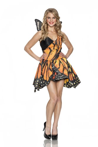 Delicious Monarch Butterfly Costume, Multi, Large/X-Large