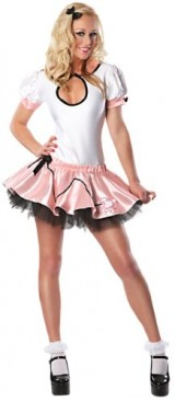 Delicious-Womens-Doo-Wop-50s-Sexy-Costume-PinkBlack-MediumLarge-0