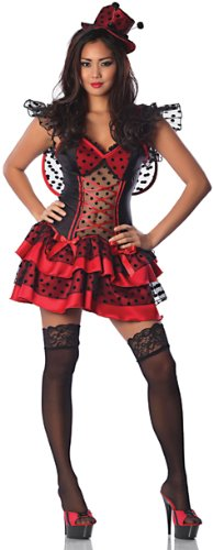 Delicious Women's Lil Red Bug Sexy Costume, Red/Black, Large/X-Large