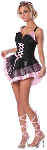 Delicious Women's Playboy Ballerina Bunny Costume, Black/Pink, Large/X-Large