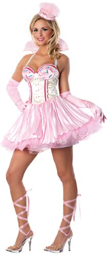 Delicious Women's Playboy Bunnylicious Costume, Pink, Medium/Large