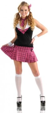 Delicious-Womens-Sexy-Scholar-Costume-PinkBlack-LargeX-Large-0