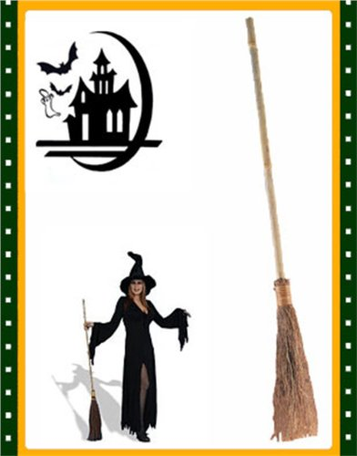 Deluxe Halloween Witch 41″ Broomstick Costume Accessory (Standard)