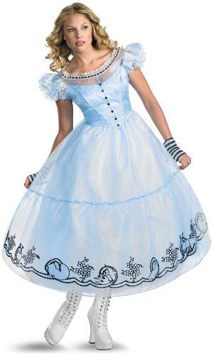 Disguise Inc Women's Tim Burton's Alice In Wonderland Deluxe Costume Blue Large