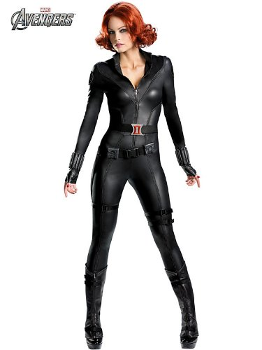 Disguise Marvel's Avengers Movie Black Widow Avengers Theatrical Adult Costume, Black, Medium/(8-10)