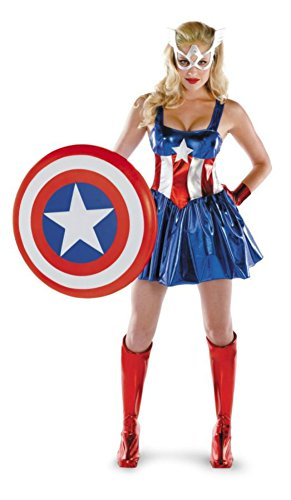 Disguise Womens Marvel Captain America Sexy Dress Halloween Themed