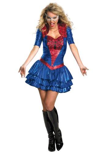 Disguise Womens Spiderman 2 Sassy Deluxe Spidergirl Halloween Costume, Plus (18-20)