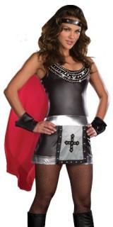 Dreamgirl-Battle-Babe-Gladiator-Costume-BlackSilverRed-X-Large-0