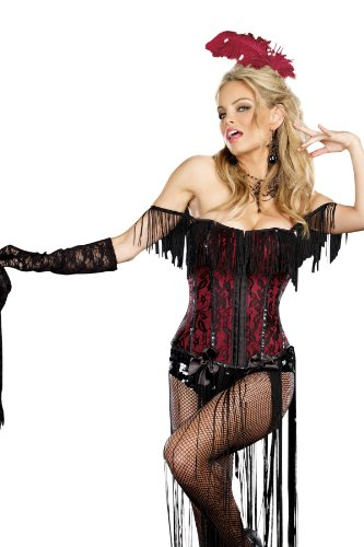 Dreamgirl Burlesque Beauty, Black, Large