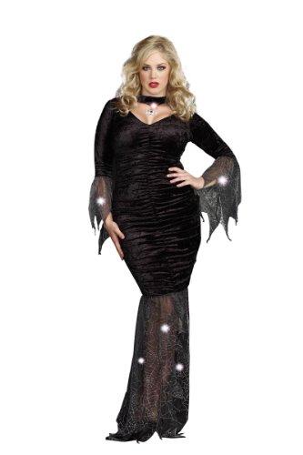 Dreamgirl Plus Mysterious Mistress Dress, Black, 3x/4x