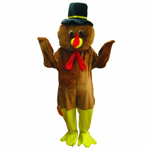 Dress Up America Thanksgiving Turkey Mascot, Brown, One Size