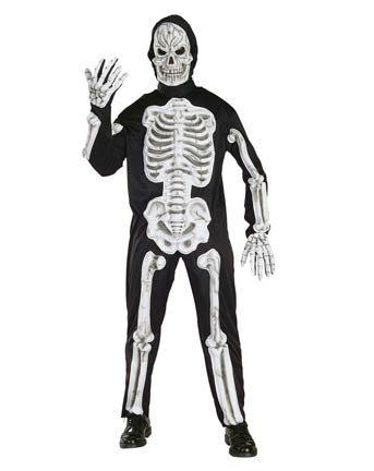 EVA Skeleton Adult Halloween Costume Size 42-44 Large